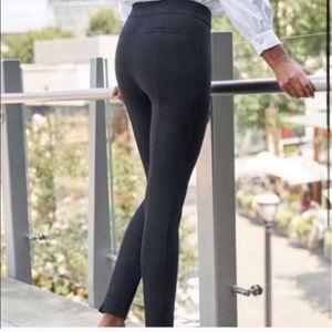 NEW Spanx the perfect black pant ankle backseam M